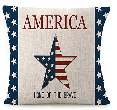 Home Of The Brave American Stars and Strips Pillow Case