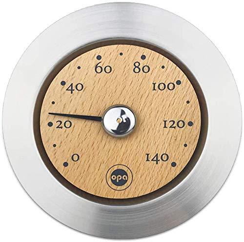 SudoreWell® Original finnisches Sauna Thermometer Steel aus Edelstahl & Holz by opa