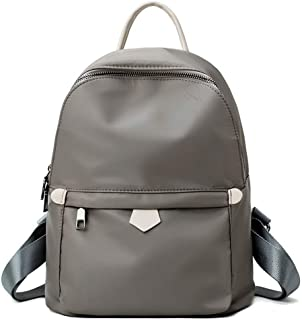 Pure Color Simple Sports Backpack Travel School Shoulder Bag Daypack (Color : Khaki)