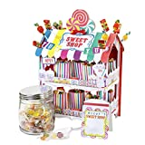 Talking Tables Street Stalls; Zweistöckiger Zuckerlgeschäft-Tischstand für Süßigkeiten für Geburtstage, Kinderpartys, Teekränzchen, Hochzeiten und Partys, Bunt