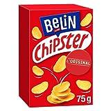 Belin Chipster Salé - Biscuit Soufflé Croustillant - Texture Légère - Idéal pour l'Apéritif - 1 Boîte (75 g)