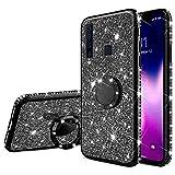 Coque pour Samsung Galaxy A9 2018 Coque Silicone Bling Gliter Paillette Brillant Luxueux Strass...