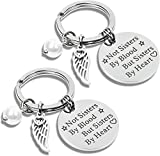 L&H Gadgets Llavero con texto en alemán 'Beste Freundn' 'Not sisters by blood, But sisters by heart'
