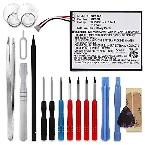 subtel® Batería de Repuesto SP86R para Sony PS Vita 2007 / PCH-2007 / PSV2000, 2100mAh + Juego de Destornilladores 4-451-971-01,SP86R, Accu de Larga duración