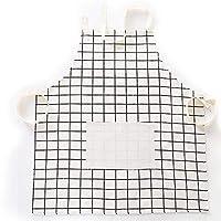家庭用調理用エプロン、大人用キッチンシェフエプロン、レストラン用エプロンを焼くためのポケット付き防水・防油エプロン-白い