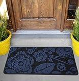 Viminston Felpudo de Entrada Alfombra Exterior para Puerta, Impermeable, Lavable para Atrapar Suciedad Alfombras para Puerta de Entrada, Cocina, Piso, hogar y Oficina (Mandala Blue, 24' x 36')