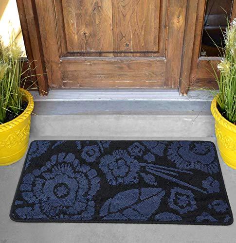 """Best Doormat Door Entrance mat Indoor Outdoor Non Slip Washable Quickly Absorb Moisture Rug (17"""" X 30"""", Mandala Blue)"""