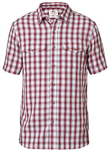 Fjällräven Abisko Cool Shirt Ss - Herren  Kurzarmhemd,rot (red 320), S