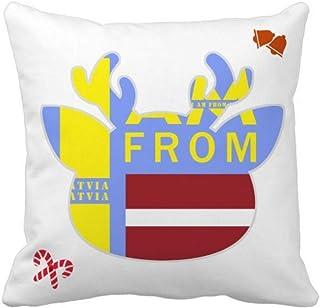 OFFbb-USA I Am from Letonia - Funda de almohada cuadrada