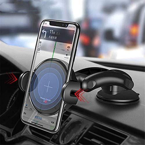 XYSQWZ Cargador De Coche Inalámbrico Soporte De Cargador De Coche Rápido Qi De 15 W Cargador De Coche Inductivo Qi De Sujeción Automática para iPhone 11 Pro XS MAX XR 8 Plus/Samsung