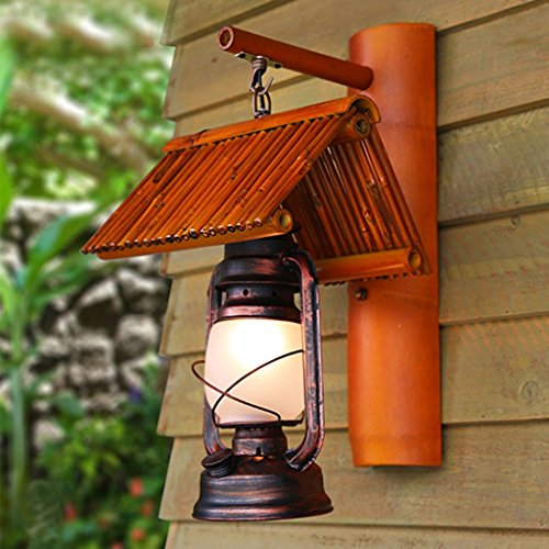 Chinese Retro Nostalgique Antique Bar Staircase Aisle Bamboo Lamp Kerosene Lamp Lampe Murale Creative Lighting (Performance Energétique A +)