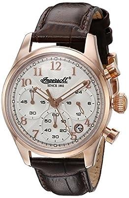 Ingersoll INQ040SLSL - Reloj para hombre de cuarzo con plateado cronógrafo y correa de cuero de Ingersoll Quartz