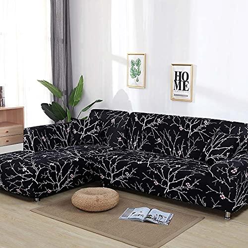 WXQY La Funda de sofá Moderna es Adecuada para la Funda de sofá Modular en Forma de L, Funda de sofá elástica elástica para Sala de Estar A20 de 4 plazas