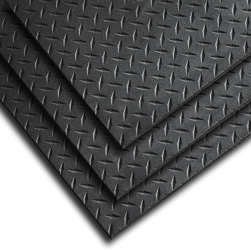 Body-Solid RF546 Rubber Equipment Mat 4' x 6', 1/2' Thick