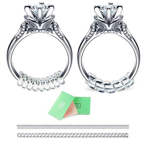 RUNGAO 14pcs Ring Size Adjuster Snuggies Ring Care Set Silver Polishing Cloth (2 mm / 3mm)