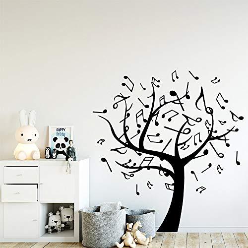 hetingyue muurstickers, motief boom met muziek, lief papier, decoratie thuis, zelfklevend, vinyl, kunstdecoratie, wandlamp