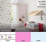 A.S. Création Bordüre Little Stars Borte Prinzessin 5,00 m x 0,17 m bunt weiß Made in Germany 358532 35853-2 - 5