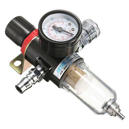 MASUNN Afr-2000 1/4 Compresor De Aire Filtro Separador De Agua Trampa Herramientas Kit con Medidor De Regulador
