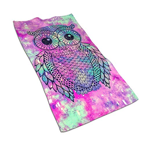 Toallas de Mano Toalla Ultra Suave Cute Owl Galaxy Toalla de Cocina Absorbente Toallas de baño para Invitados Toalla Multiusos, 27,5 x 15,7 Pulgadas