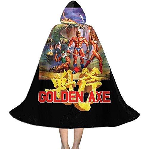 Niet van toepassing Capuchon Cape, Unisex Cosplay Rol Kostuums, Volwassen Robe Mantel, Gouden Bijl Cover Artwork Vampier Mantel, Witch Wizard Mantel, Halloween Party Decoratie Bovenkleding