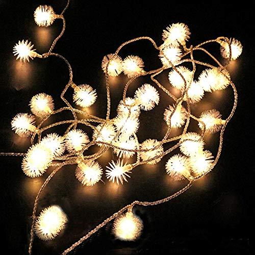 Guirnalda de luces de guirnalda de bolas de nieve de 10 m, 80 ledes, luces de hadas para fiestas, Navidad, decoración de boda, cadena LED (emisión de color: multicolor, estilo: 20 LED)