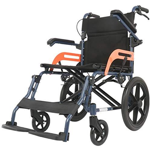 Chunse Leichte Aluminium Rollstuhl, Walker Rollstuhl Kombination Rollator Gehhilfe geeignet für diejenigen mit eingeschränkter Mobilität