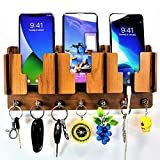 US DZIRE - THE BRAND OF LIFESTYLE  Antique Wooden Key Holder | Mobile Charging Stand Key Holder | for Home,Office | Wall Decor Craft.