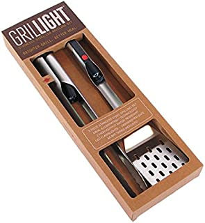 Grillight Grilling Essential Combo Gift Set: LED Light Spatula, Tongs & Bonus GrillMat | Restaurant Grade Stainless Steel Tools w/Built-in LED Flashlight | Turn Grill into Griddle | Grill in The Dark