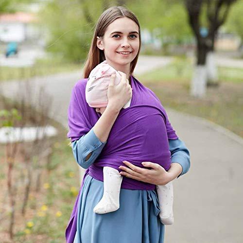 Portabebes, Sunzit Fular Portabebé Unisex Porta bebé Multifuncional para Bebé y Recién nacido - Púrpura