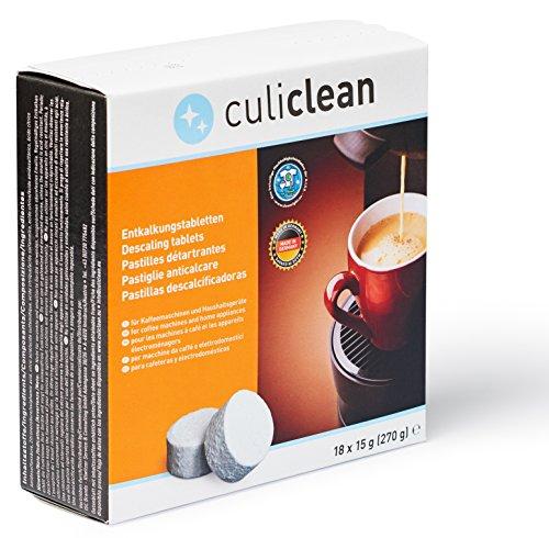 18 Pastilles Détartrantes de culiclean, pour les machines à café et les appareils électroménagers