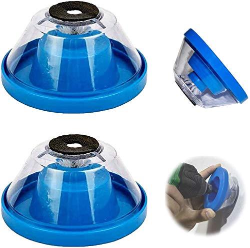 ZMMA 2 Stück Must-Have Zubehör Bohrstaubabscheider für Elektrohammer und Bohrer, 4-10 mm Trockenbau-Staubabscheider, Wandstaubabscheider