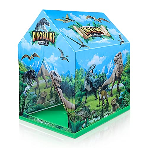 Czemo Tienda de Campaña Infantil Dinosaurio Carpa Infantil Casa de Juegos para Interiores y Exteriores, Portátil Tienda, Playhouse para Niños Niñas, Regalo para Niños