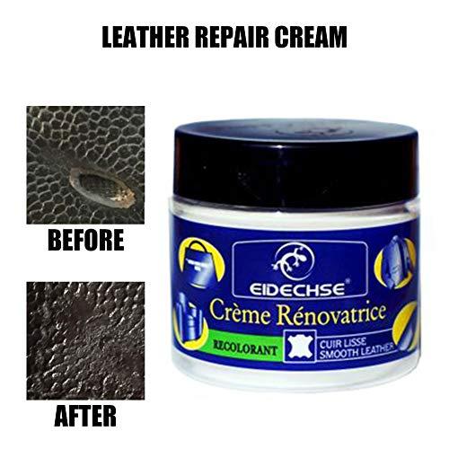 Sanmubo Leder Vinyl Repair Kit Leder Reparaturcreme Auto Autositz Sofa Mäntel Löcher Kratzer Risse Risse Flüssiges Leder Repair Tool,Renovating Cream,Möbelleder Max Refinish und Restorer Kit