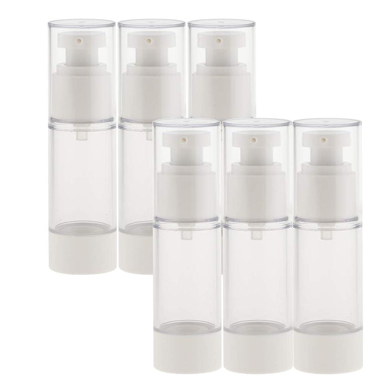 dailymall スプレーボトル 6本セット 香水ボトル 真空ボトル ポンプボトル アトマイザー 全2サイズ選べ - 30ミリリットル