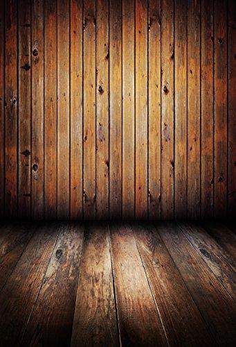 FiVan 5x8ft(150x250cm) geel bruin hout plank print doek fotografie achtergrond FD-924
