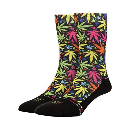 LUF SOX Power Maui Waui - Socken für Damen und Herren, Unisex-Größe 35-39, 40-43 und 44-48, mehrfarbig, Ferse und Fußspitze leicht gepolstert