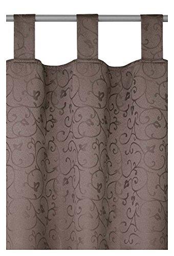 Schlaufenschal - Schlaufengardine - Dekoschal - Vorhang Blickdicht im Rokoko Design 140cm x 240cm in...