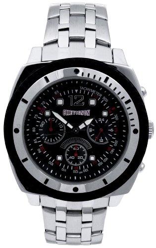 Chevignon 92-0007-501 - Reloj analógico de Cuarzo para Hombre con Correa de Acero Inoxidable, Color Plateado