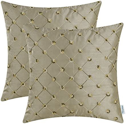 Best CaliTime Pack of 2 Cushion Covers Throw Pillow Cases Shells for Sofa Couch Home Decoration 18 X 18 I