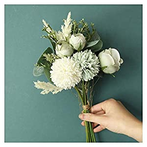 LHHZAL 15 Heads Rose Artificial Flowers Bride Silk Small Head Fake Bouquet for Home Wedding Decoration Memorial Day Faux Flowers Artificial Flower (Size : Pink)