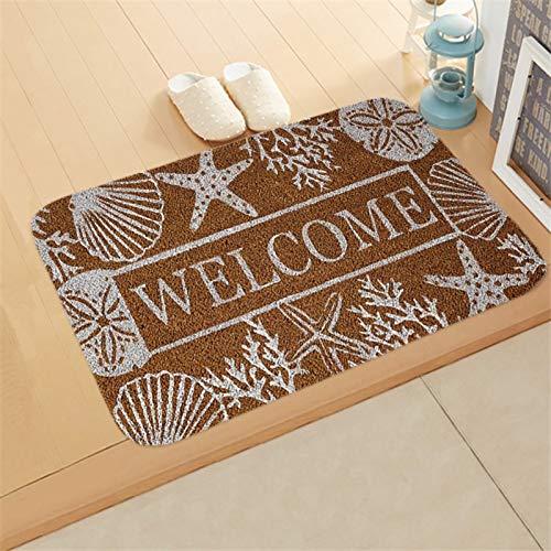 OPLJ Willkommen Fußmatte Eingang Anti-Rutsch-Matte Flur PrintedCarpet Für Zimmer Schlafzimmer Home Küche Fußmatte Art Pad A4 40x60cm