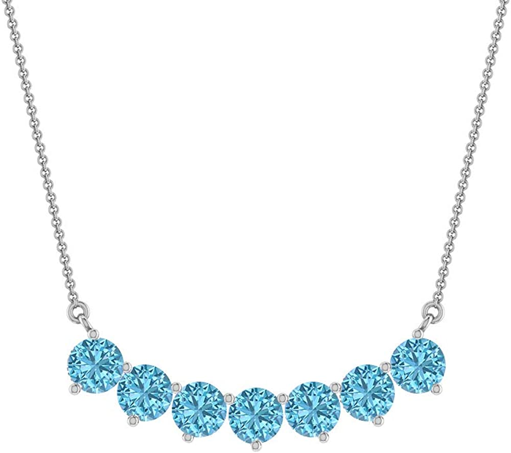 Aquamarine All items in the store Pendant Necklace 0.43 CT Cluster Recommendation 2.40 Gold