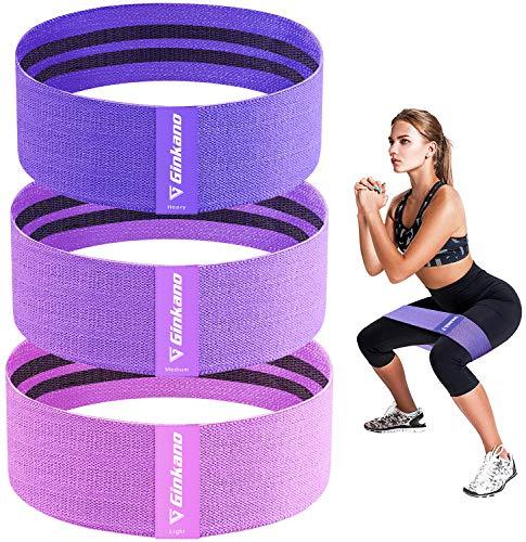 Haquno Bandas Elasticas Gluteos[Set de 3], Elásticas Musculacion para Fitness con 3 Niveles, Resistencia Antideslizante para...