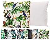 JACK Outdoor Lounge Kissen 45x45cm Motiv Dekokissen Wasserfest Sitzkissen Garten Stuhl, Farbe:Urwald