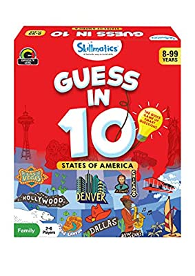 Skillmatics Educational Game : States of America - Guess in 10 (Ages 8-99) | Card Game of Smart Questions | General Knowledge for Kids, Adults and Families | Gifts for Boys and Girls