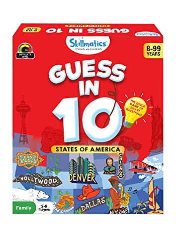 Product Image of the Skillmatics Card Game : Guess in 10 States of America | Gifts for 8 Year Olds...