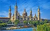 FAWFAW Puzzle 3000 Piezas, Catedral De Zaragoza, Hermoso Castillo En España Gran Puzzle De Madera 120X80Cm