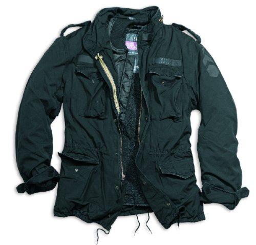 Surplus Herren Regiment M 65 Jacket20-2501 Parka Langärmlige Jacke - Schwarz, XL