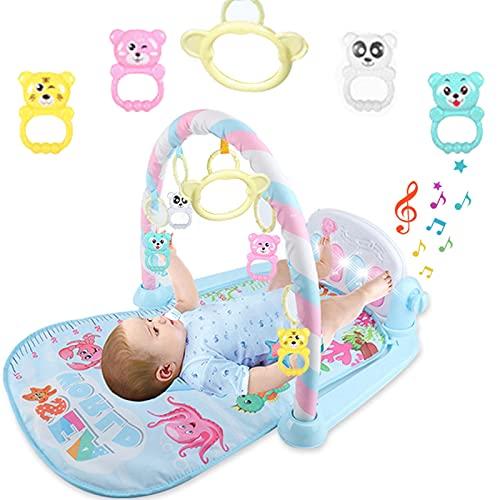 Alextry Alfombrilla de Juego para bebé, Jugar a la música, con Teclado de Piano, Alfombra de proyección para el Ejercicio de los bebés