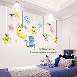 Cartoon Aufkleber Kinderzimmer Wandsterne und Mondaufkleber selbstklebende niedliche Baby Wandaufkleber
